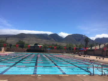 The West Maui Mountains offer a large incentive to keep swimming.