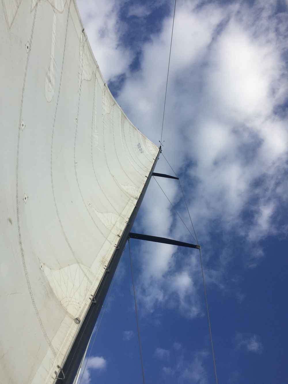My favorite thing to do while sailing (and not working) is to lay down and watch the sky.