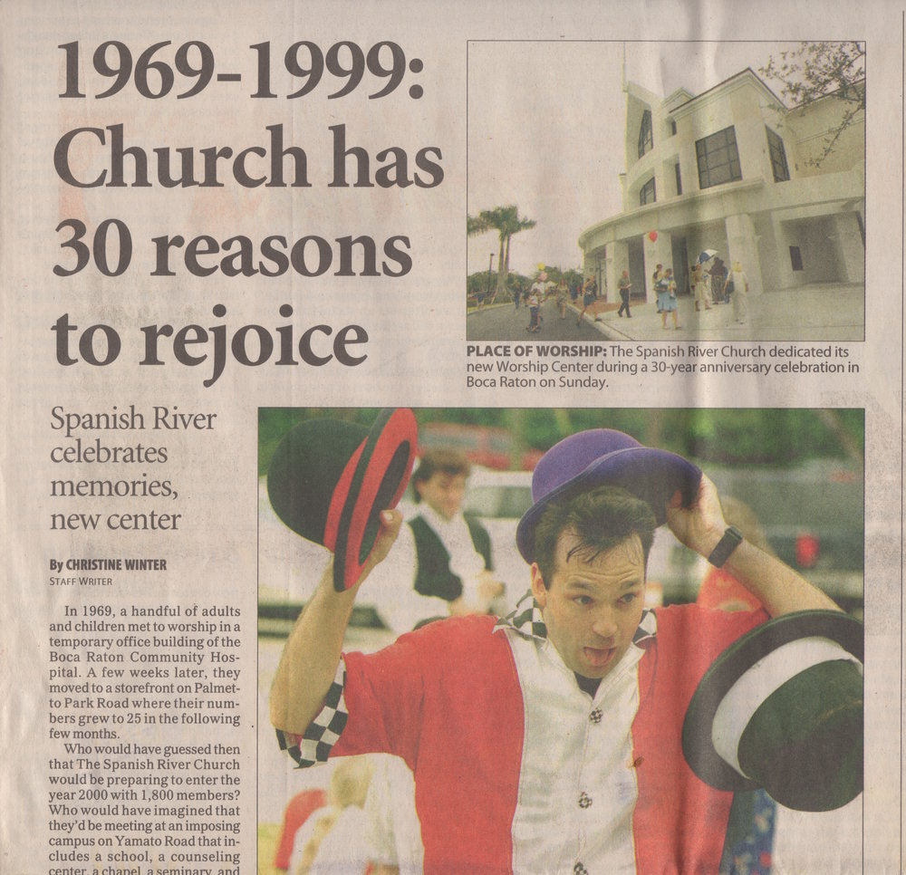 Newspaper article from 1999.