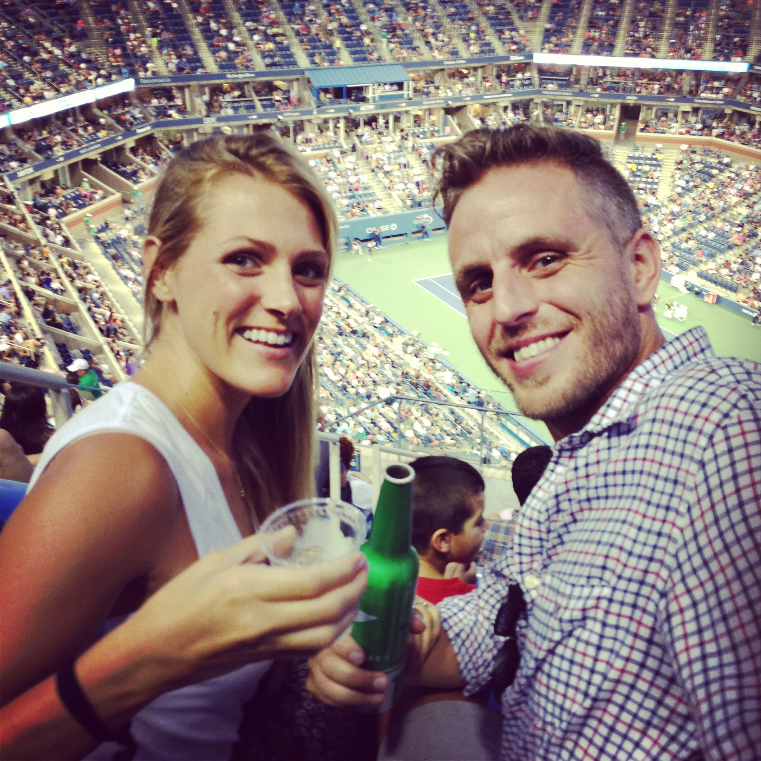 Raz and me at the US Open