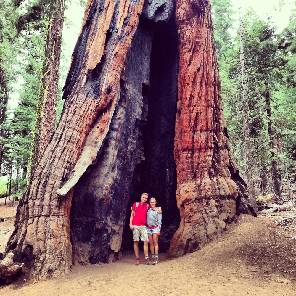 Raz and me hiking in Yosemite last summer.