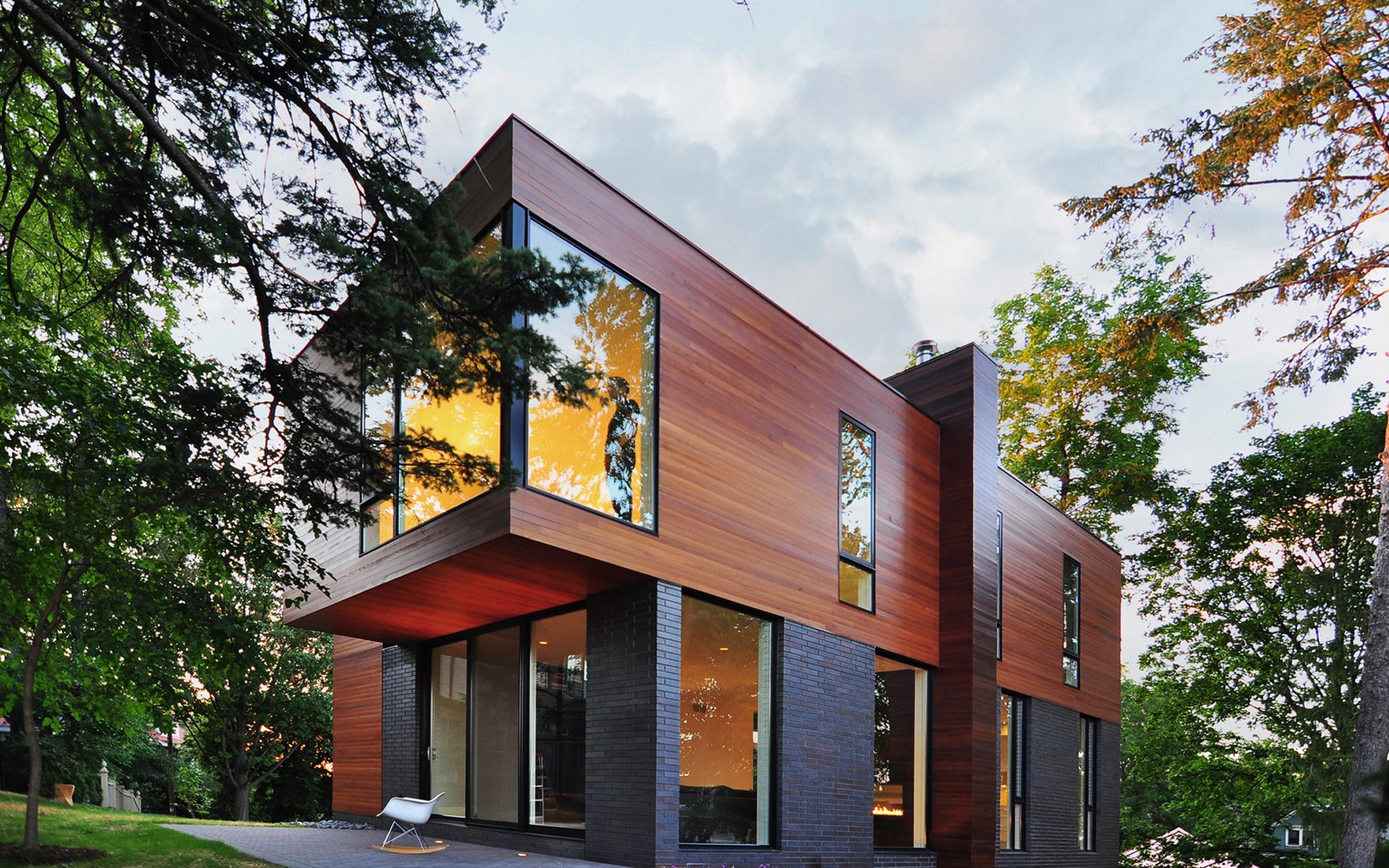 Modern House Cedar Siding Modern House