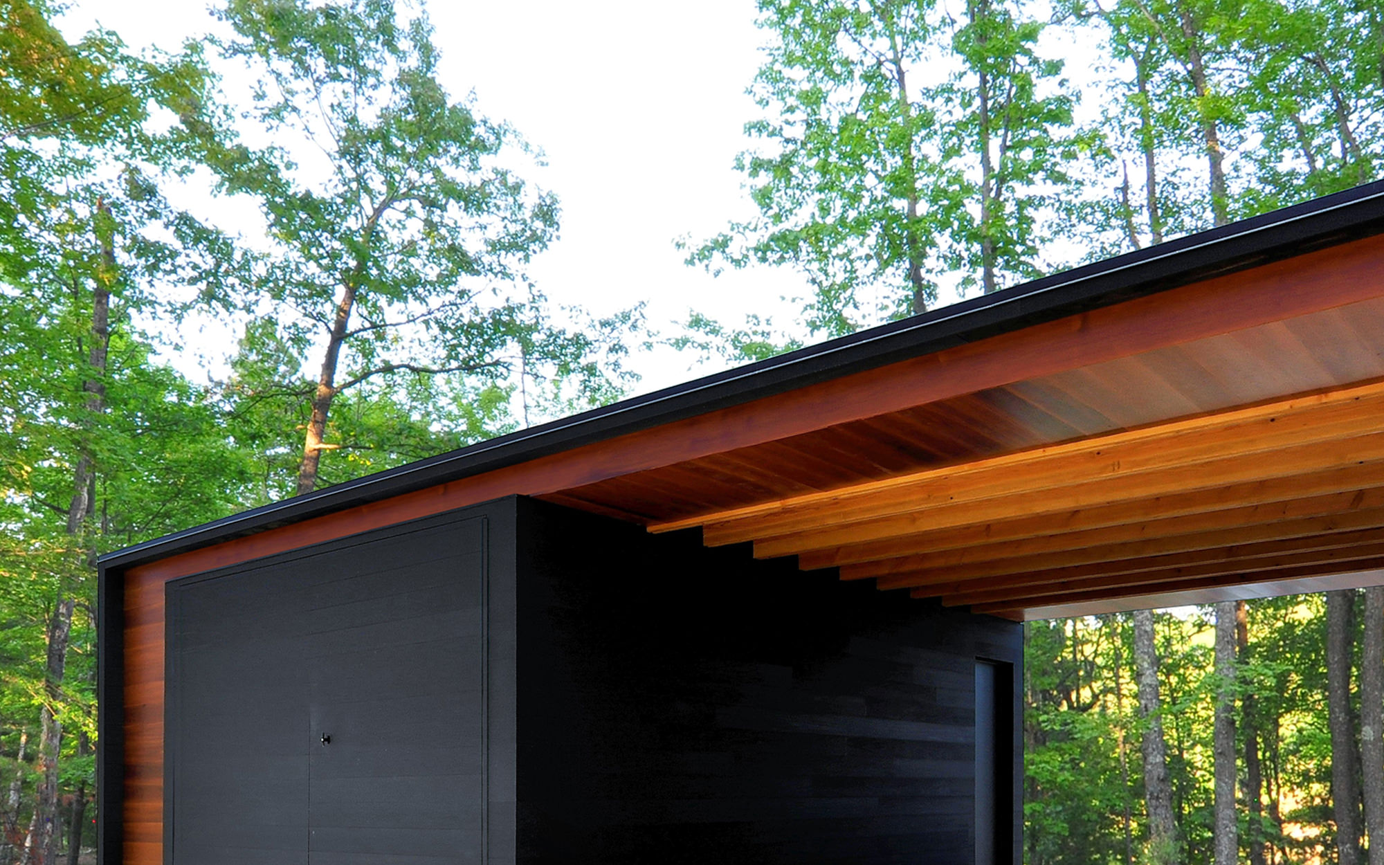 Johnsen Schmaling Architects Run Electrical Wires Underground To Reach Sheds Lights Patios And Linear Cabin