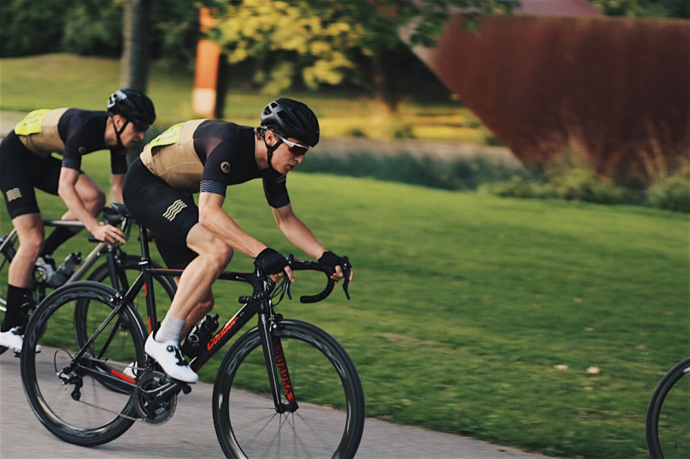 Mono's Matt Ward and Matt Tucker at Crystal Palace Crits 2017. Photo - @breakawayphotography