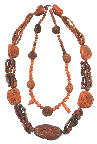 The Princess of Chen's Necklaces, Liao dynasty (907-1125), Excavated from the tomb of the Princess of Chen at Qinglongshang Town in Naiman Banner, Gold, Inner Mongolia Archaeological Research Institute.