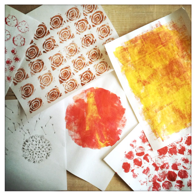 backgrounds, block printing & floral motifs