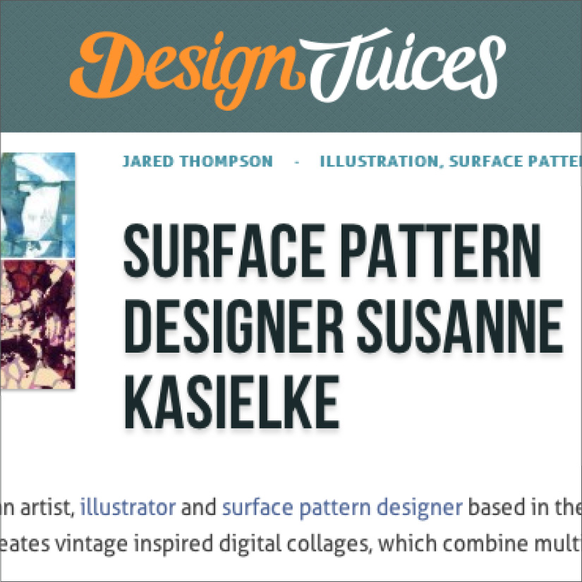 Design Juices: Designer feature by Jared Thompson. Click here to read, 04/2015