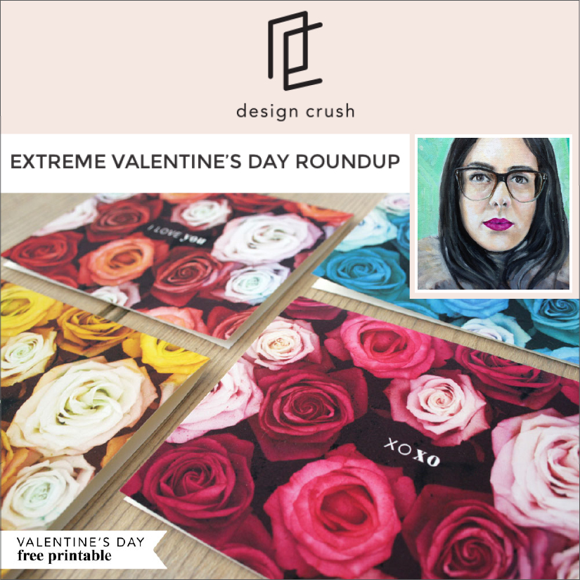Design Crush: Feature of her Valentine's Day printable on the bespoke design blog, Click here to read, 02/2016