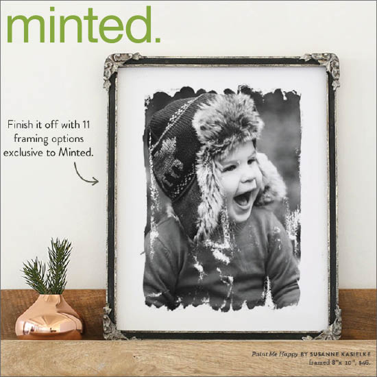 "Minted : email feature of customizable photo art ""Paint me happy"", 11/2015"