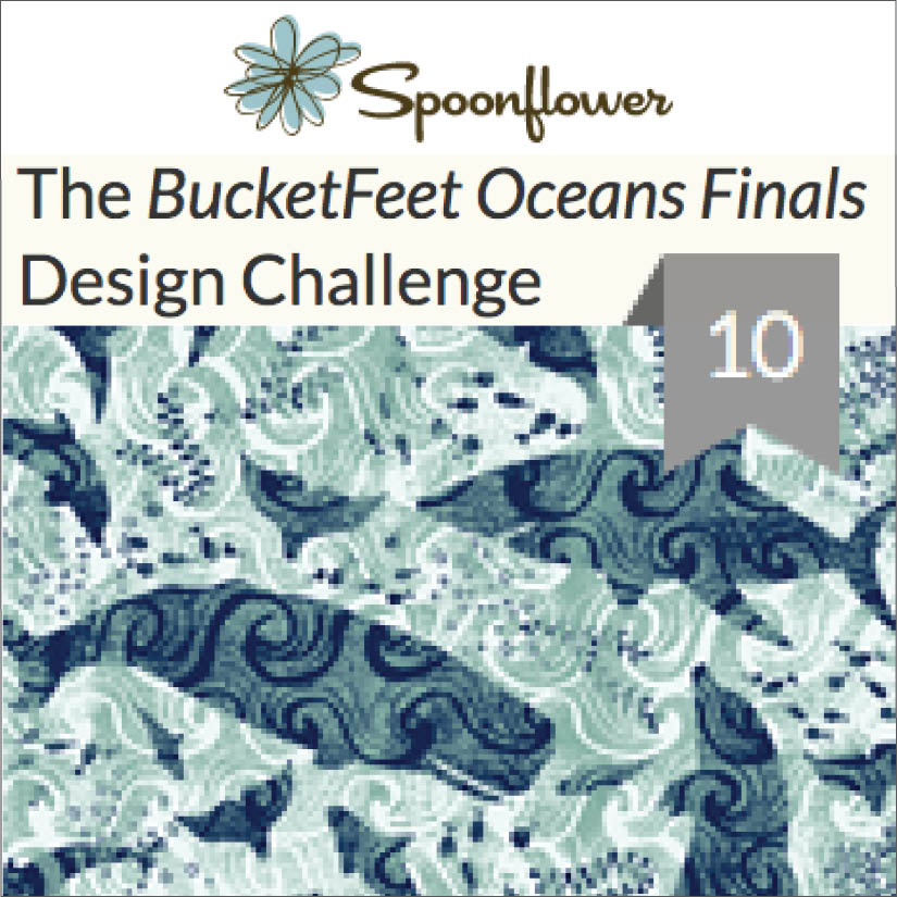 Spoonflower Top 10 winner of the Bucketfeet Ocean Challenge. Click here to read, 05/2016