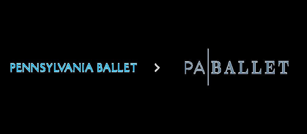 Pennsylvania Ballet logo rebrand graphic