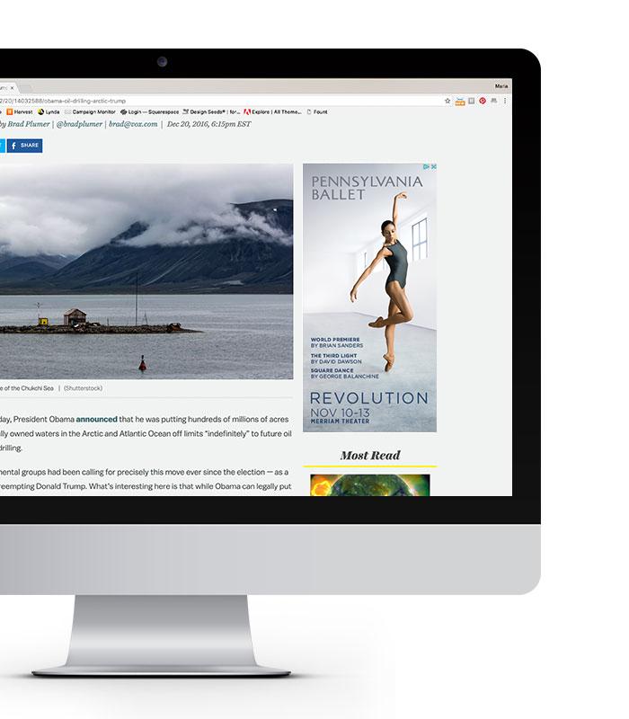 Pennsylvania Ballet digital display ad
