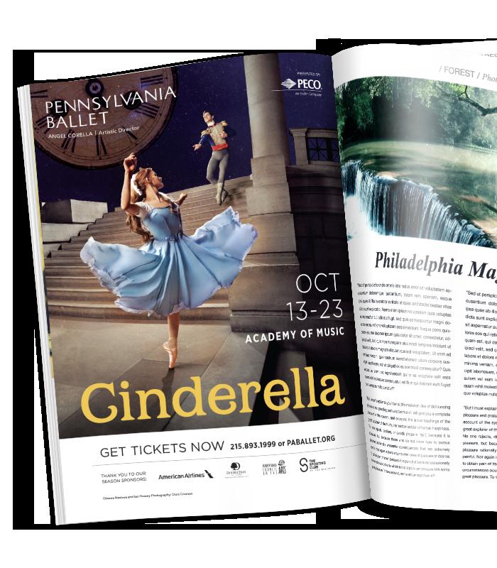 Pennsylvania Ballet magazine print ad