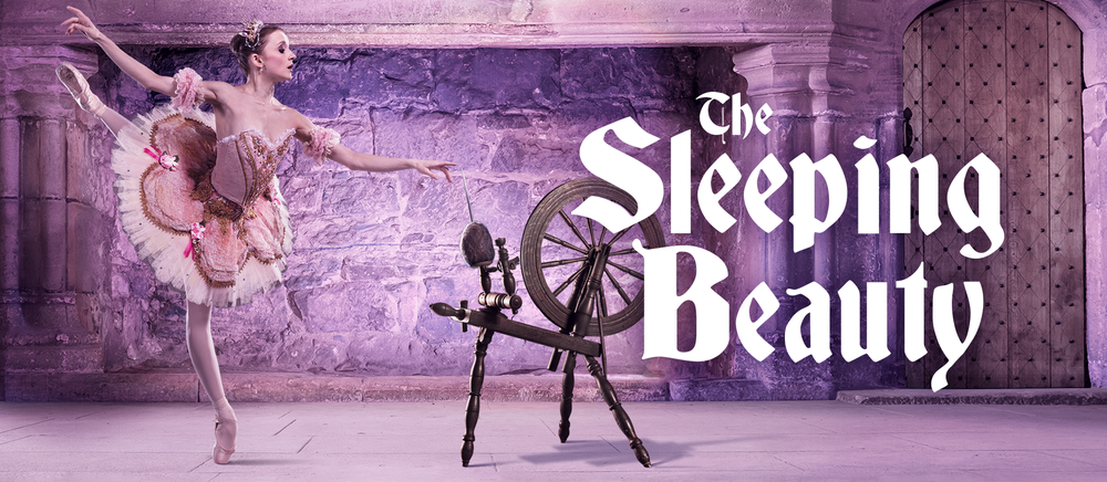 Pennsylvania Ballet The Sleeping Beauty Dancer photo and title graphic