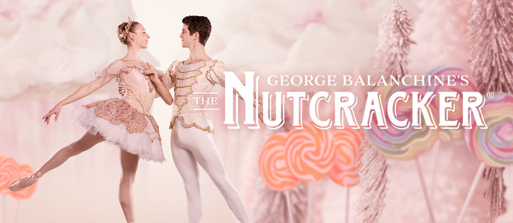 Pennsylvania Ballet George Balanchine's The Nutcracker Dancers photo and title graphic
