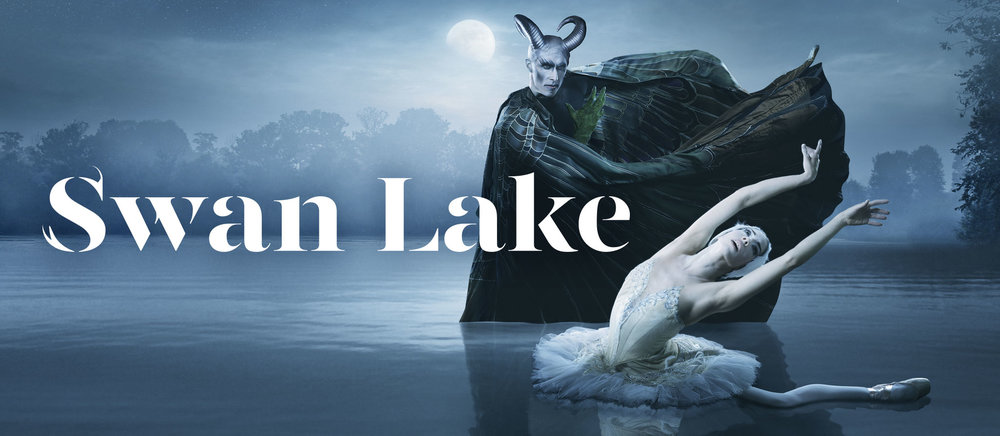 Pennsylvania Ballet Swan Lake Dancers photo and title graphic