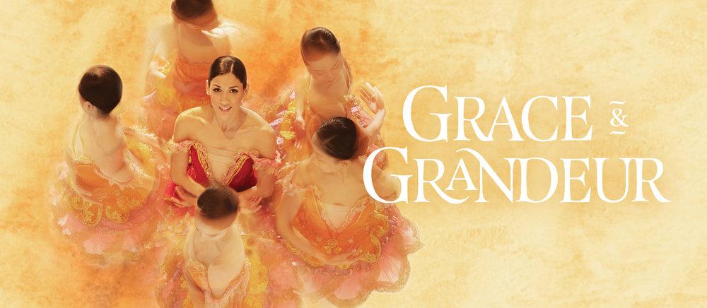 Pennsylvania Ballet Grace & Grandeur Dancer photo and title graphic
