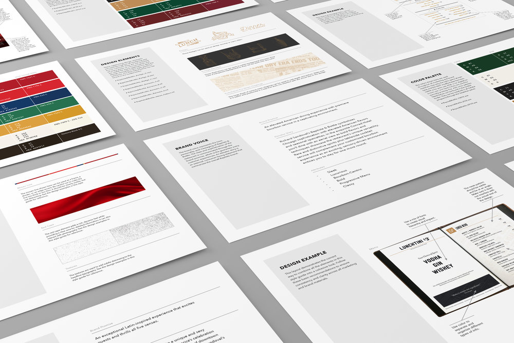 Paragraph brand guideline pages for Richard Sandoval Hospitality