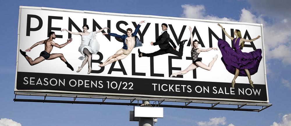 Pennsylvania Ballet billboard promoting ticket sales
