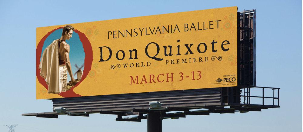 Pennsylvania Ballet Don Quixote World Premiere billboard