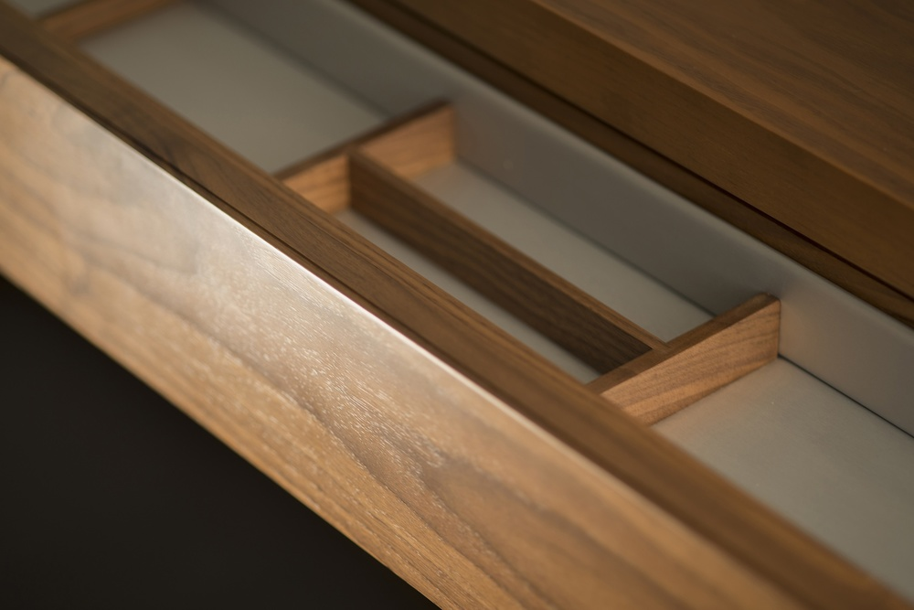 The Glamorous Butler Console drawer detail