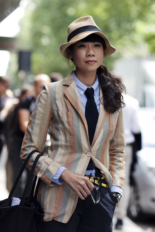 On the Street, Janie, Milan - by Scott Schuman (www.thesartorialist.com)