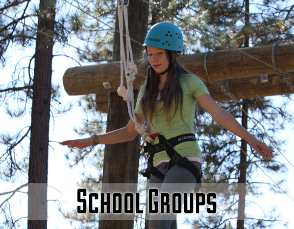 It's time for outside classroom learning! School groups not only get high and low challenge course programming, but also some unique ground-based activities that can really put feet to a physics or geometry curriculum. There's also a high emphasis on building self-esteem and celebrating each student's unique strengths.