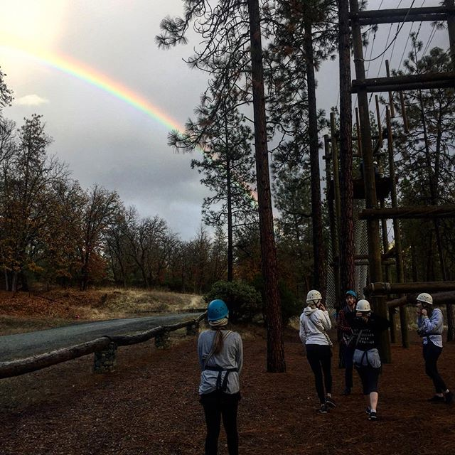 Got a rainbow 🌈 here at the Course #rainbow #allhispromises #are #yesandamen #fun #thecourseca