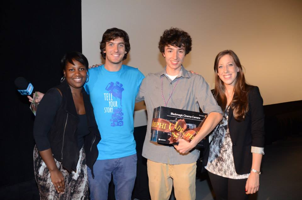 Our friends at Adelphi University gave away a $2000 Blackmagic camera to one of our lucky filmmakers!