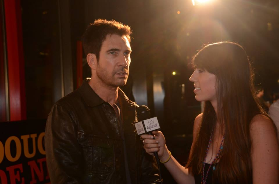 FanSpired.com interviewing AAHSFF judge Dylan McDermott before the awards show.