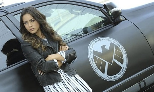 Chloe Bennet on the set of her hit show Agents of SHIELD