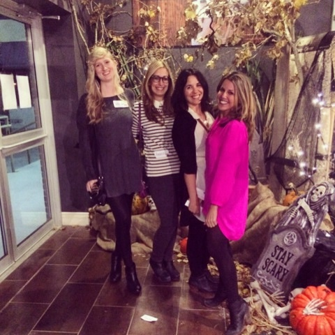 From left to right... Newbie: Natasha Bargen, Partner in crime 1: Amanda Minuk, Senior Designer: Melanie Dupuis, Partner in crime 2: Debbie Golub #teamawesome #thelittlefirmthatcould #girlsgonewile