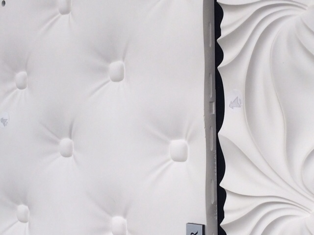 so pretty in white, but can be painted to spec. concrete board that looks soft and sculptural... we love modular art!!