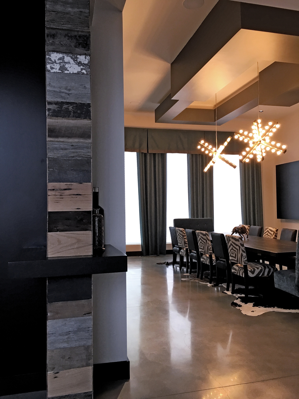 Dining room reclaimed wood pendant lights.jpg