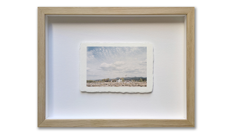 Awagami Shiramine paper 10x15cm, cadre 21x25cm