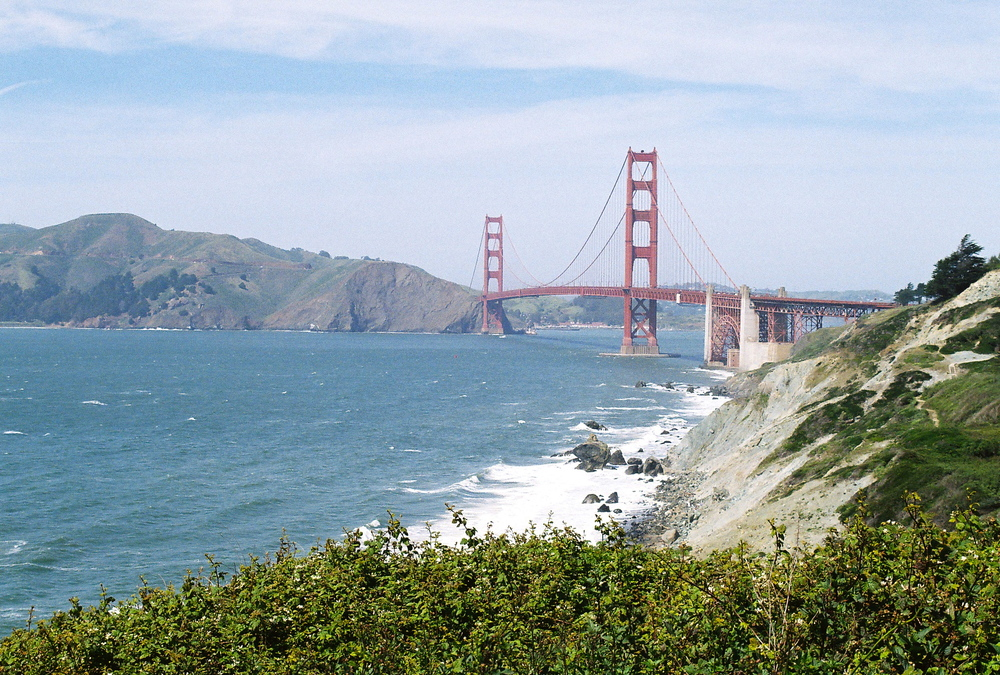 Golden Gate bridge from Lands End, San Francisco, CA, 2013