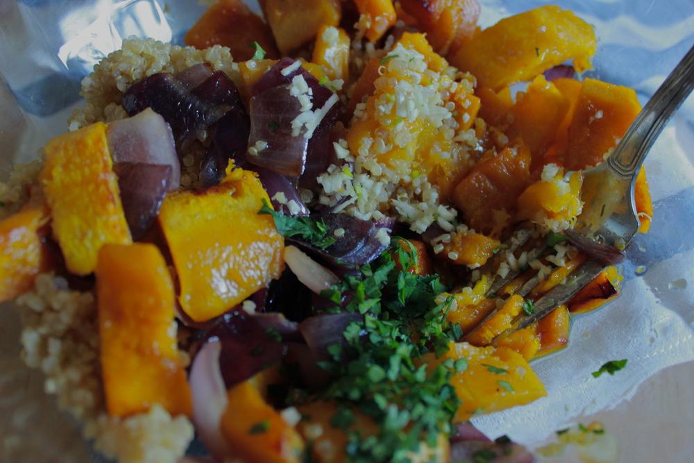 squash cake contents | half galley kitchen