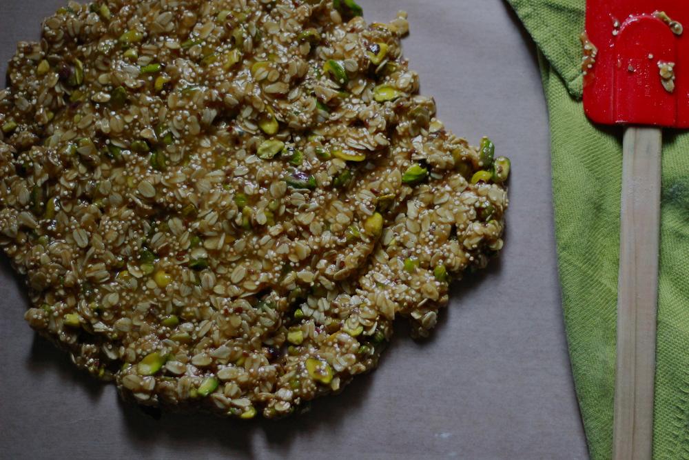 granola before baking | half galley kitchen