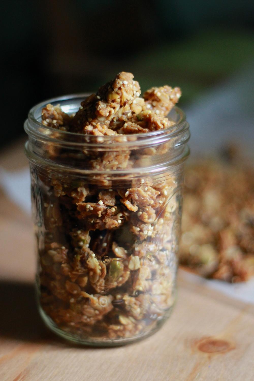 jar of brown butter pistachio granola | half galley kitchen