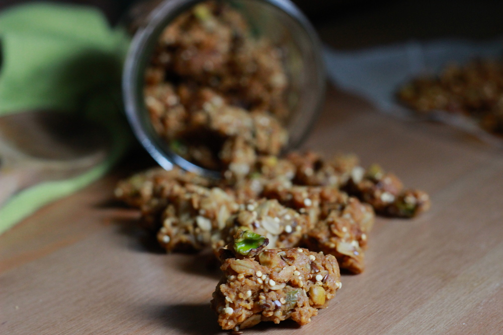 brown butter pistachio, quinoa + flaxseed granola | half galley kitchen
