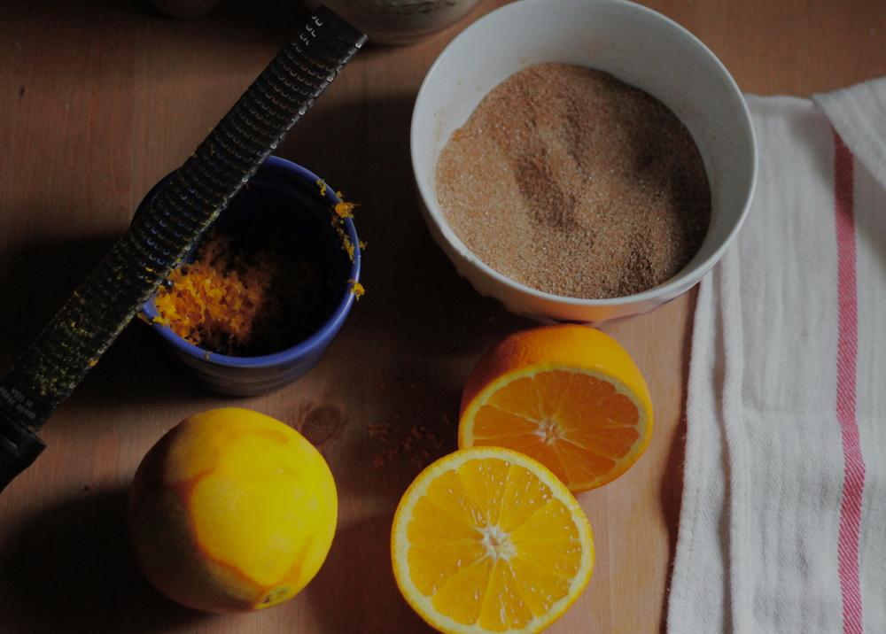 ingredients for orange cinnamon buns | half galley kitchen