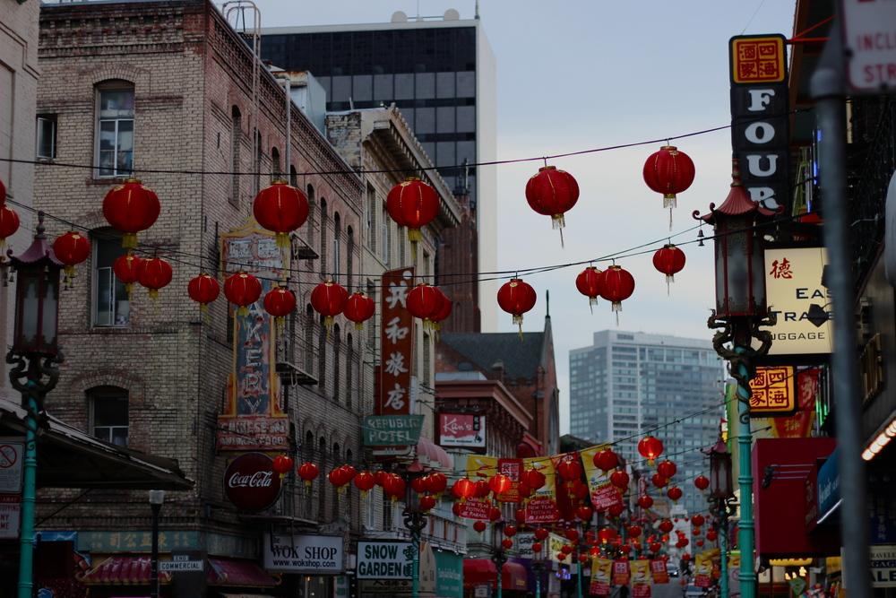 red lanterns in chinatown ; weekly wednesday | half galley kitchen