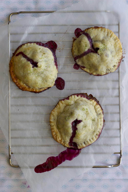 blueberry, meyer lemon + basil salt handpies | half galley kitchen