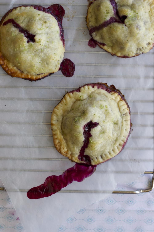 blueberry, meyer lemon + basil salt handpies || half galley kitchen