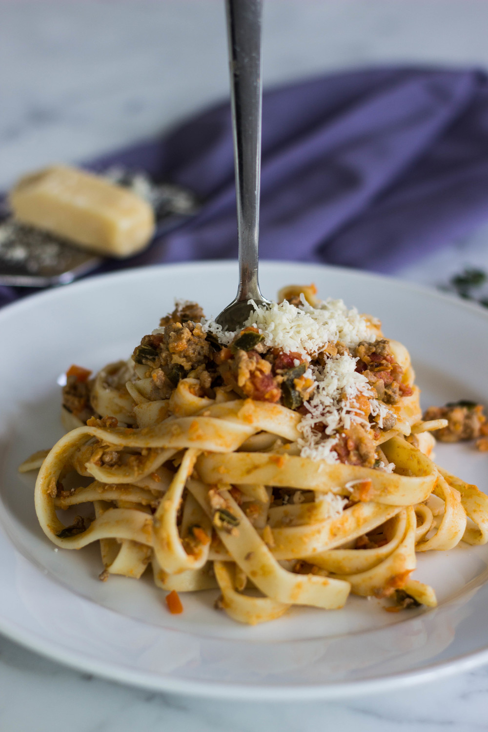 poblano pepper bolognese || half galley kitchen