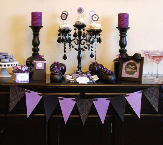 Halloween Decorating Purple And Black Didriks