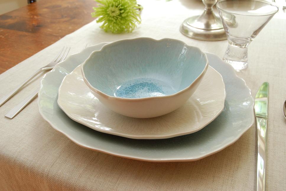 Plume dinnerware by Jars Ceramics