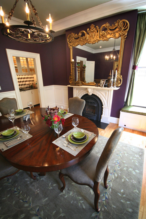 Rutland Square Dining Room with table setting featuring Jars Ceramics