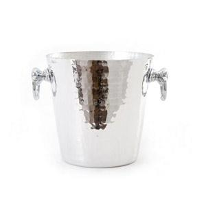 mauviel-hammered-aluminum-round-champagne-bucket