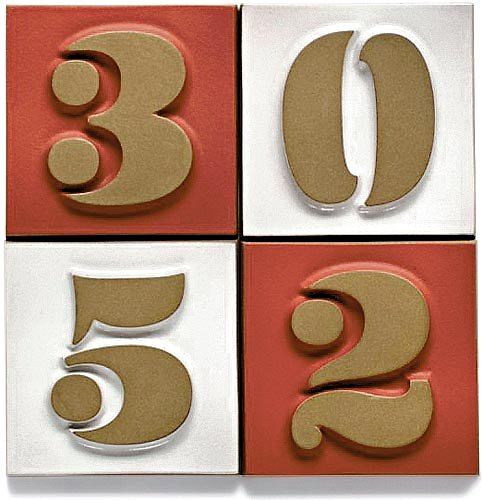 The Heath Ceramics Eames House Number Tile Collection
